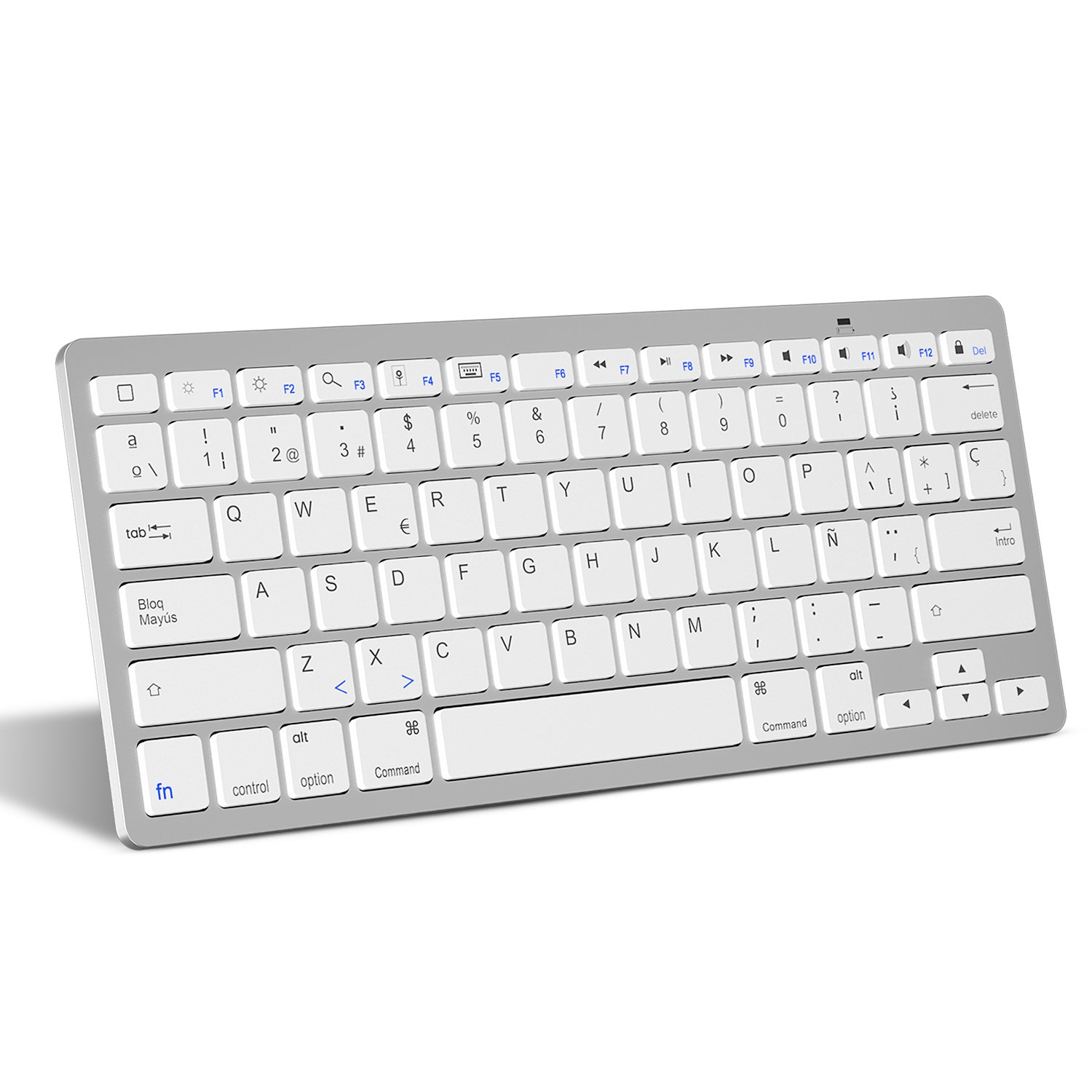 OMOTON Bluetooth Teclado Español Ultra-Delgado Mini para iPhone ...