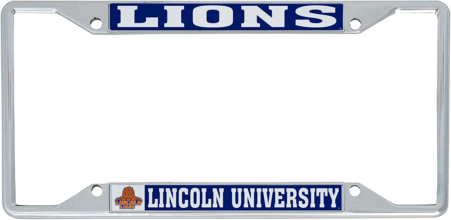Lions NCAA Metal License Plate Frame for Front or Back of Car Officially Licensed Desert Cactus Lincoln University Mascot PA