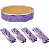 4-Piece Bake Even Strip,Cake Pan Strips,Cake Pan Dampen Strips,Cake Pan Strips, Super Absorbent Thick Cotton,Keeps Cakes…