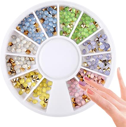 GSTONE 1BOX Manicura Colorido Nail Art Fashion Nail adornos ...