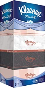 Kleenex Ultra Soft Facial Tissue, 3 PLY, Vintage, 100ct (Pack of 5)