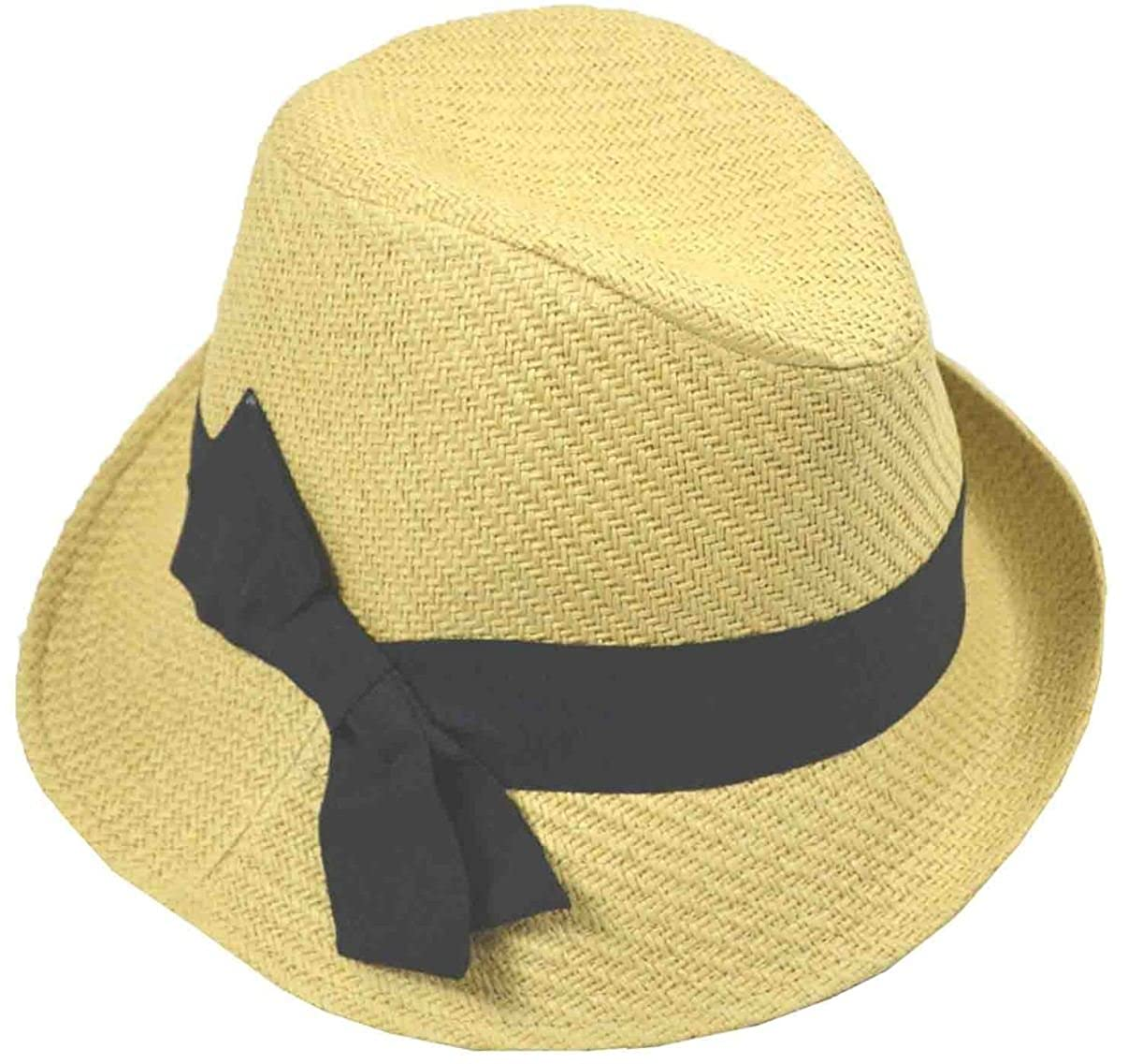 Jeanne Simmons Women's Slanted Straw Fedora Natural