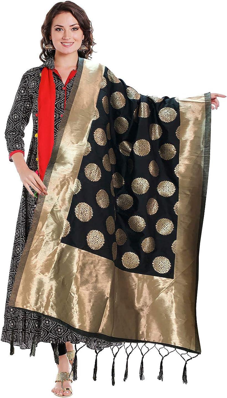 Indian Wedding Banarasi Brocade Dupatta Scarf Benarasi Dupatta Women stole Elegant Evening Rectangular Scarves Gifts for Her Christmas Gifts