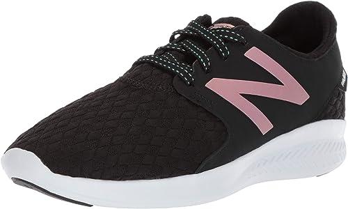 2 W US Little Kid Black//White New Balance Girls Coast V3 Fuelcore Running Shoe