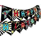 Laser Tag Happy Birthday Banner Pennant