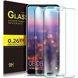 KuGi HUAWEI P20 Protection Ecran, Ultra Résistant Film Protection écran Glass [Dureté 9H] Screen Protector pour HUAWEI P20 (Pack de 2)
