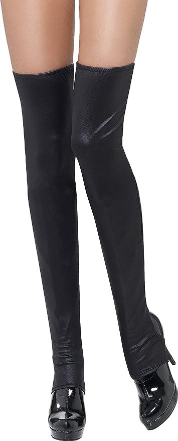 3a636b2b38d74 Amazon.com: Smiffy's Fever Black Thigh High Boot Covers: Sports ...
