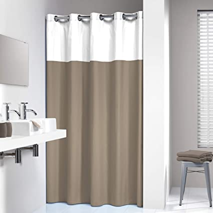 Image Unavailable Not Available For Color Sealskin Extra Long Hookless Shower Curtain
