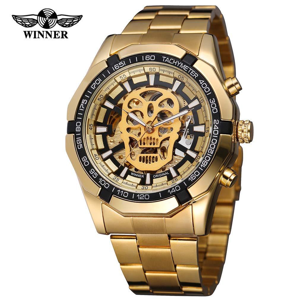 LUXISDE Quartz Watch Mens Digital Wrist Watch Clock Hollow Dial Luxury Design Business Fashion Mens Mechanical Watch by LUXISDE (Image #2)