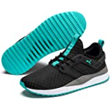 Puma Pacer Next Men'S Sneakers, Puma Black-Blue Turquoise-Charcoal, 7.5 US