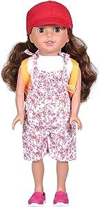 "Bumbleberry Girls Tatum Girl Doll, Brown Hair Hispanic, 15"" (Amazon Exclusive)"