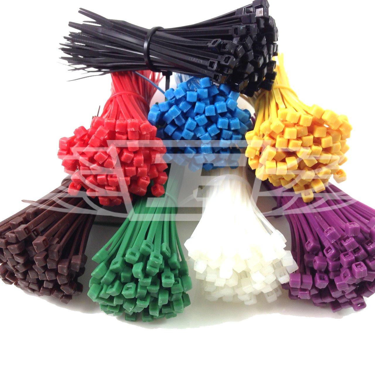 2,5/mm x 100/mm negro 100/bridas para cables escoge tu color