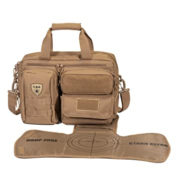 5dcda4060f9 Amazon.com   Tactical Baby Gear Deuce 2.0 Tactical Diaper Bag with Changing  Mat (Coyote Brown)   Baby