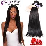 Graceful Lodi Hair Unprocessed Brazilian Hair Straight 3 Bundles 100% Brazilian Hair Straight Natural Black Remy Hair