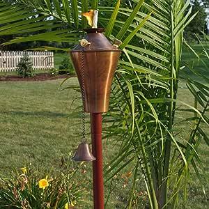 Starlite - Antorcha de jardín y Patio Kona Deluxe Tiki para decoración de antorcha de Cobre: Amazon.es: Jardín