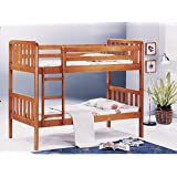 Royaloak Scout Single Size Solid Wood Bunk Bed (Natural Finish, Brown)