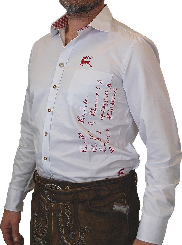 OS Trachten Herren Trachtenhemd Simon mit Druck