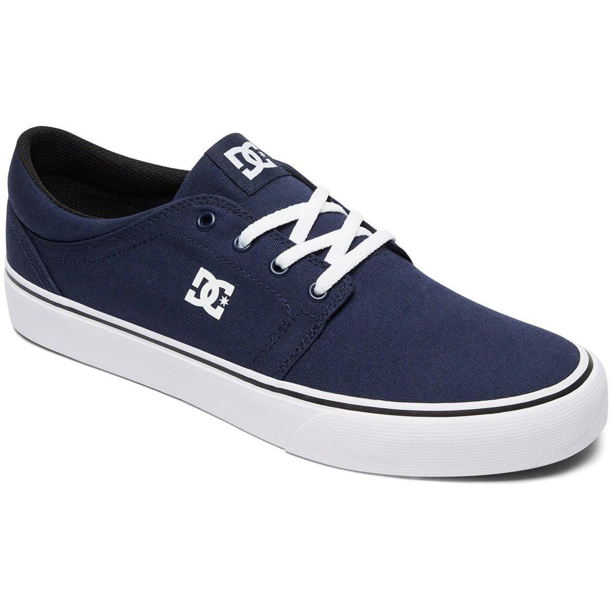 DC Men's Trase TX Unisex Skate Shoe B06ZY28WK6 11 D D US|Navy/White