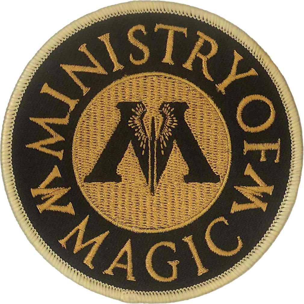 Ata-Boy Harry Potter Ministry of Magic Full Color Embroidery Iron-On Patch