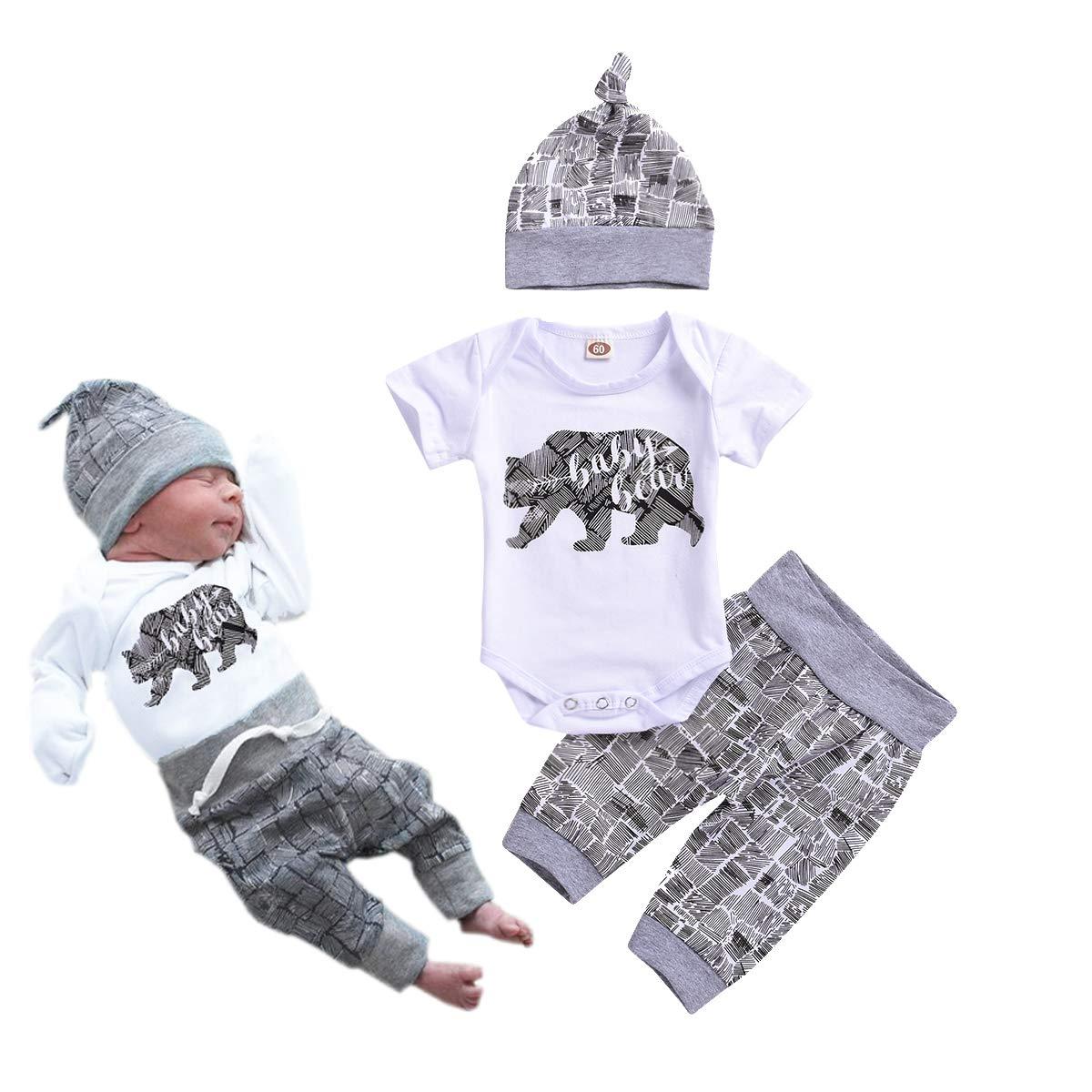 Amazon Com Newborn Baby Boy Clothes Baby Bear Letter Print