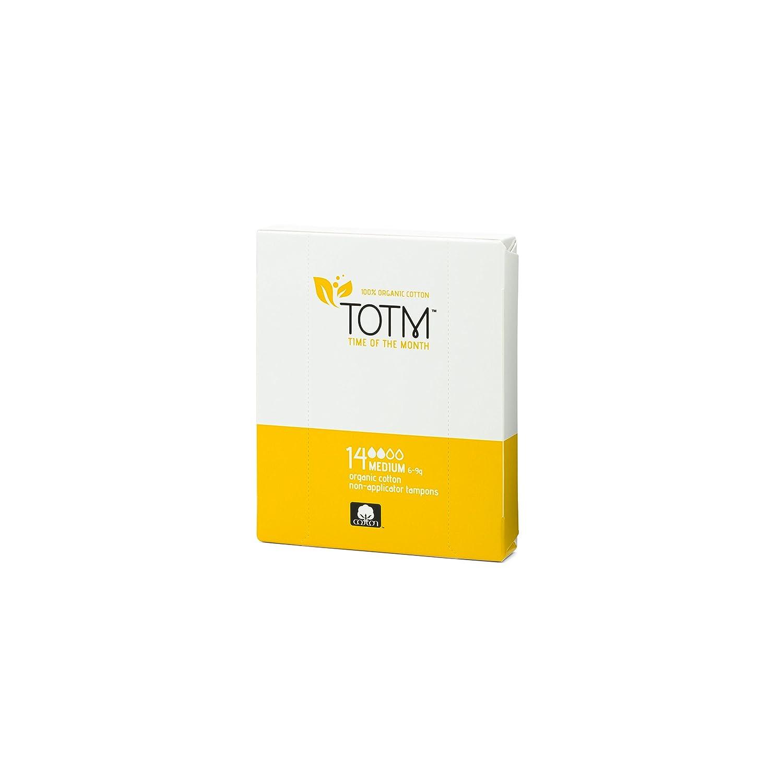 TOTM 100% Organic Non-Applicator Tampons (Medium) x 14
