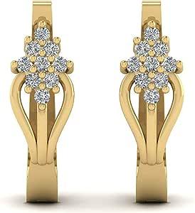 DEORO Women's Yellow Clip Earrings CC-ER-YG514