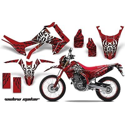 Honda CRF 250L 2013-2016 MX Dirt Bike Graphic Kit Sticker WITH Number Plates WIDOW MAKER BLACK RED
