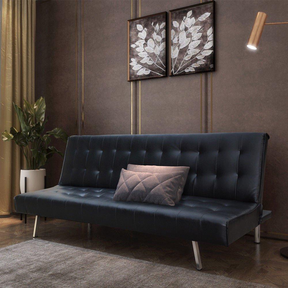 ODT Dormir sofá Cama de Piel sintética Estructura de Madera ...