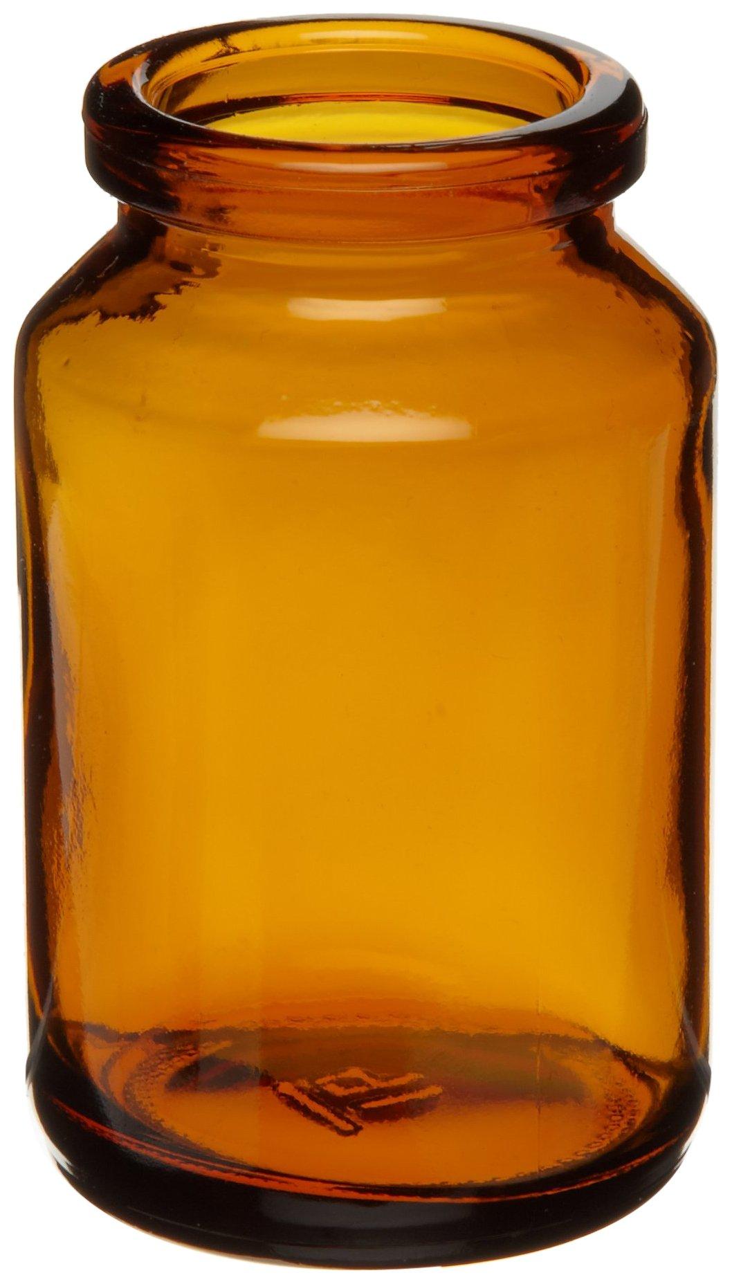 Wheaton 226733 Uni-Dose Bottle, Amber Glass, 30mL, 36mm x 58mm (Case Of 500)