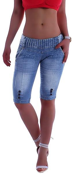 Style Station Hüftjeans Caprijeans Capri 34 Jeans Hose Bermuda Damenjeans Damenhose XS34 XL42