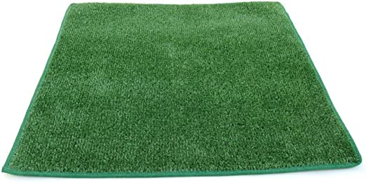 Koeckritz Rugs 9 X12 – Green 1 4 Thick – 8 oz. Artificial Grass Turf Carpet Indoor Outdoor Area Rug with Finished Edges
