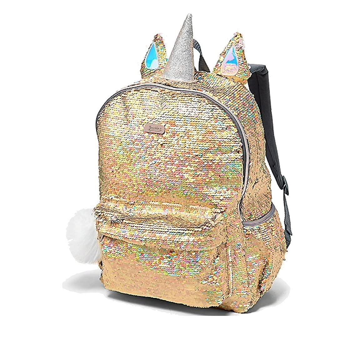 Amazon.com | Justice School Backpack Flip Sequin Gold Unicorn | Kids Backpacks