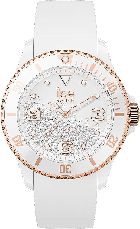 Ice-Watch Women's Crystal 017248 White Silicone Quartz Fashion Watch