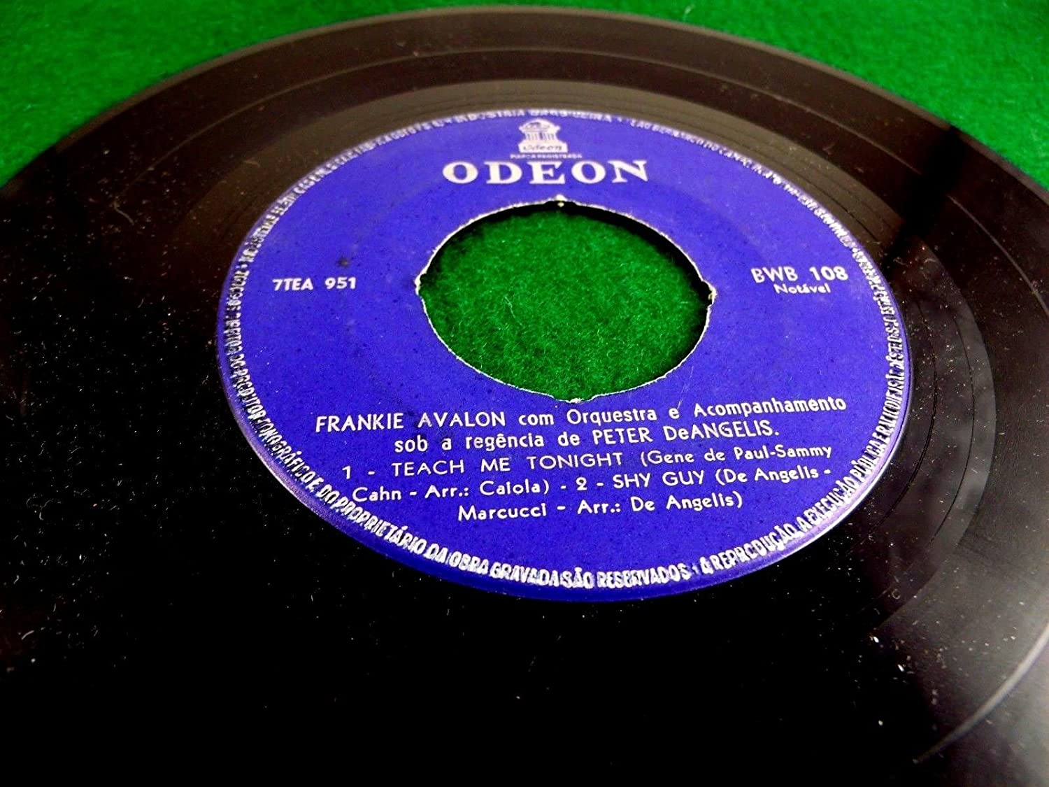 Frankie Avalon - Odeon Brazil Pressed EP -Undecided The One I Love ...