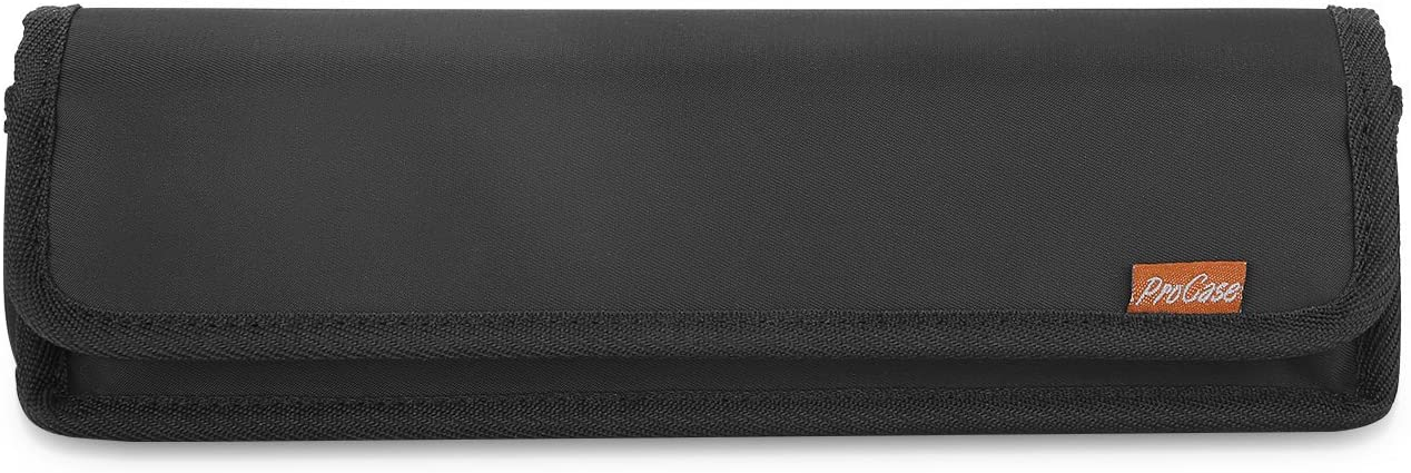 Surface Power Adapter Organizer, ProCase Portable Hard Carrying Cover Shockproof Travel Storage Bag Accessory Pouch for Microsoft Surface Go Laptop Pro 7 5 4 3 Book 2 Power Adaptor and Cords –Black
