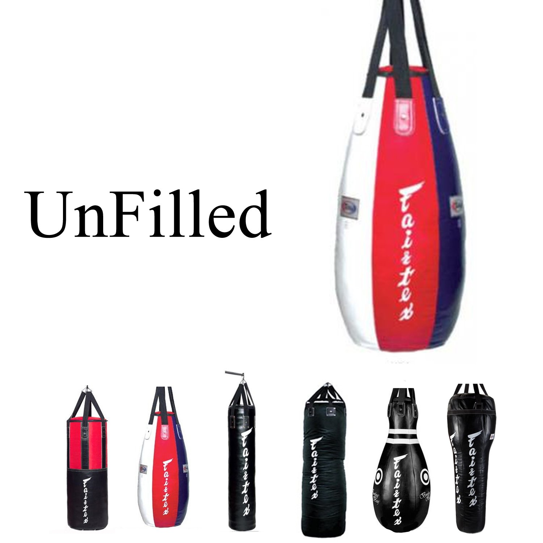 Fairtex Heavy Bag UNFILLED Banana, Tear Drop, Bowling, 7ft Pole, Angle Bag, HB3 HB4 HB6 HB7 HB10 HB12 for Muay Thai, Boxing, KickBoxing, MMA (HB4 Tear Drop Bag) by Fairtex