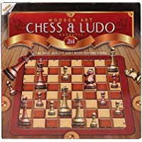 Ratna's Wooden Art Chess & Ludo Magnetic