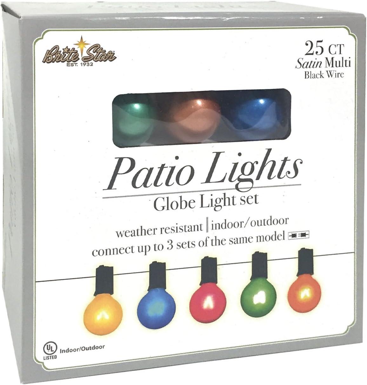 Brite Star 25 Count Satin Multi-Colored G40 Light Set