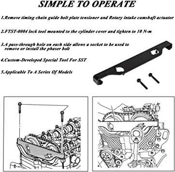 Supercrazy Engine Camshaft Actuator Locking Timing Tool Cam Chain Phaser Retainer Set Compatible with Ecotec 2.0L 2.4L 2010 Buick Lacrosse Chevrolet Equinox GMC Terrain