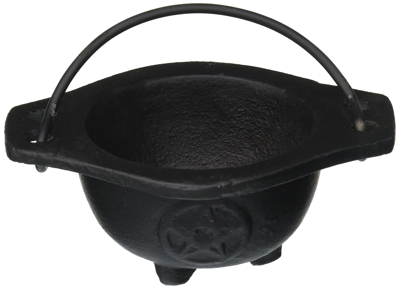 New Age Imports Inc. Small Pentagram Cast Iron Cauldron, 3 inches diameter