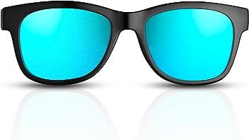 VocalSkull EIN Paar polarisierte Gl/äser//Anti-UV//Anti-Blue-Ray Sonnenbrille Knochenleitung Gl/äser schnell! Blau