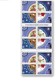 Christmas Carols - USPS Forever Stamps Book of 20 - New 2017 Release