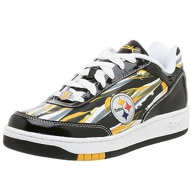 f6c5ed0107b9e7 Reebok Men s NFL Pittsburg Steelers Recline Paint Sneaker