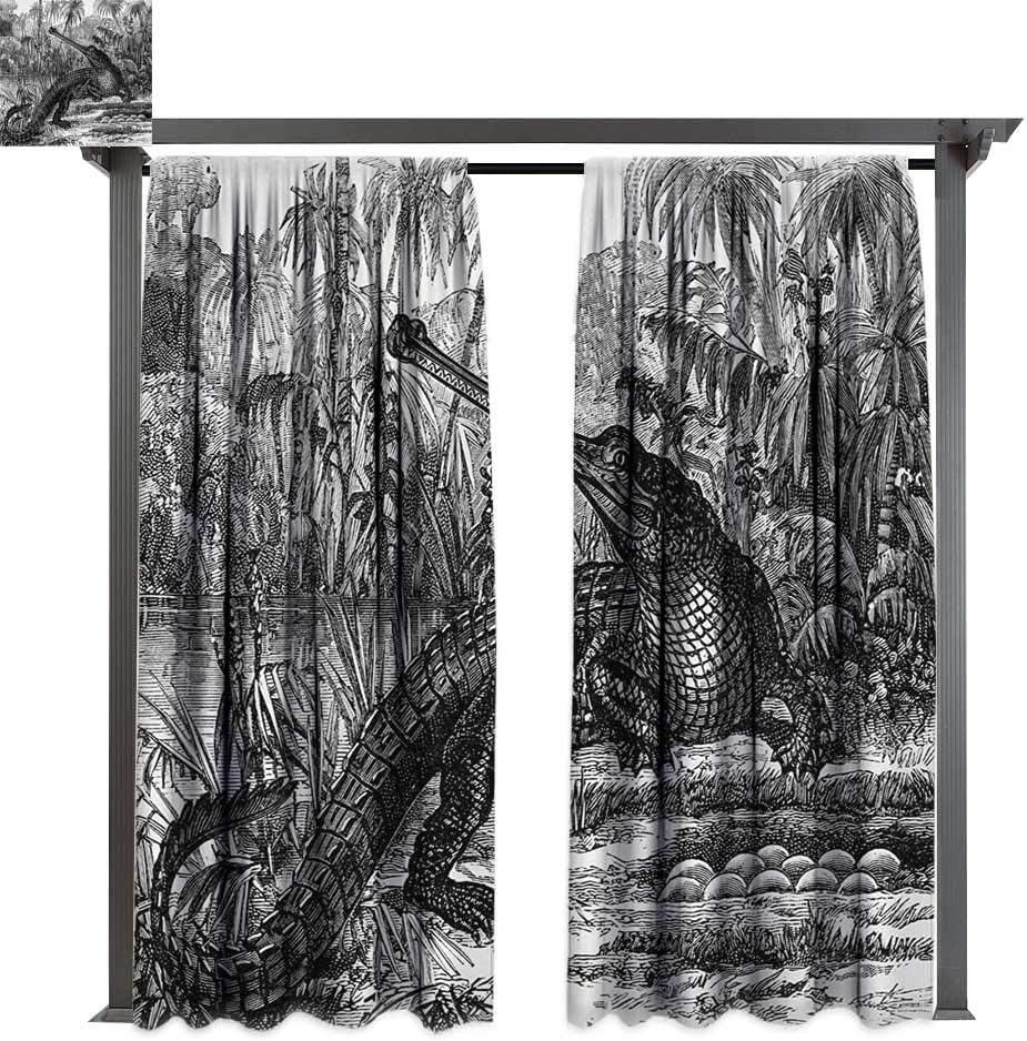 bybyhome - Cortina para pérgola, diseño Vintage de cocodrilo en Bosque y Bosque, Madera Natural, fósil para Porche, pérgola, cabaña, Patio Cubierto: Amazon.es: Jardín