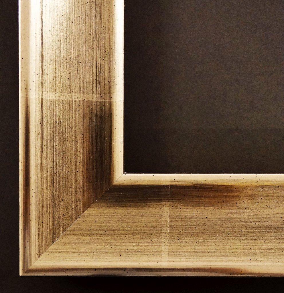 Spiegel Wandspiegel Badspiegel Flurspiegel Garderobenspiegel - Über 200 Größen - Kupferburg Platin 23 Karat, Rücken braun 4,5 - Außenmaß des Spiegels DIN A0 (84,1 x 118,9 cm) - Über 100 Größen zur Auswahl - Wunschmaße auf Anfrage - Modern, Antik