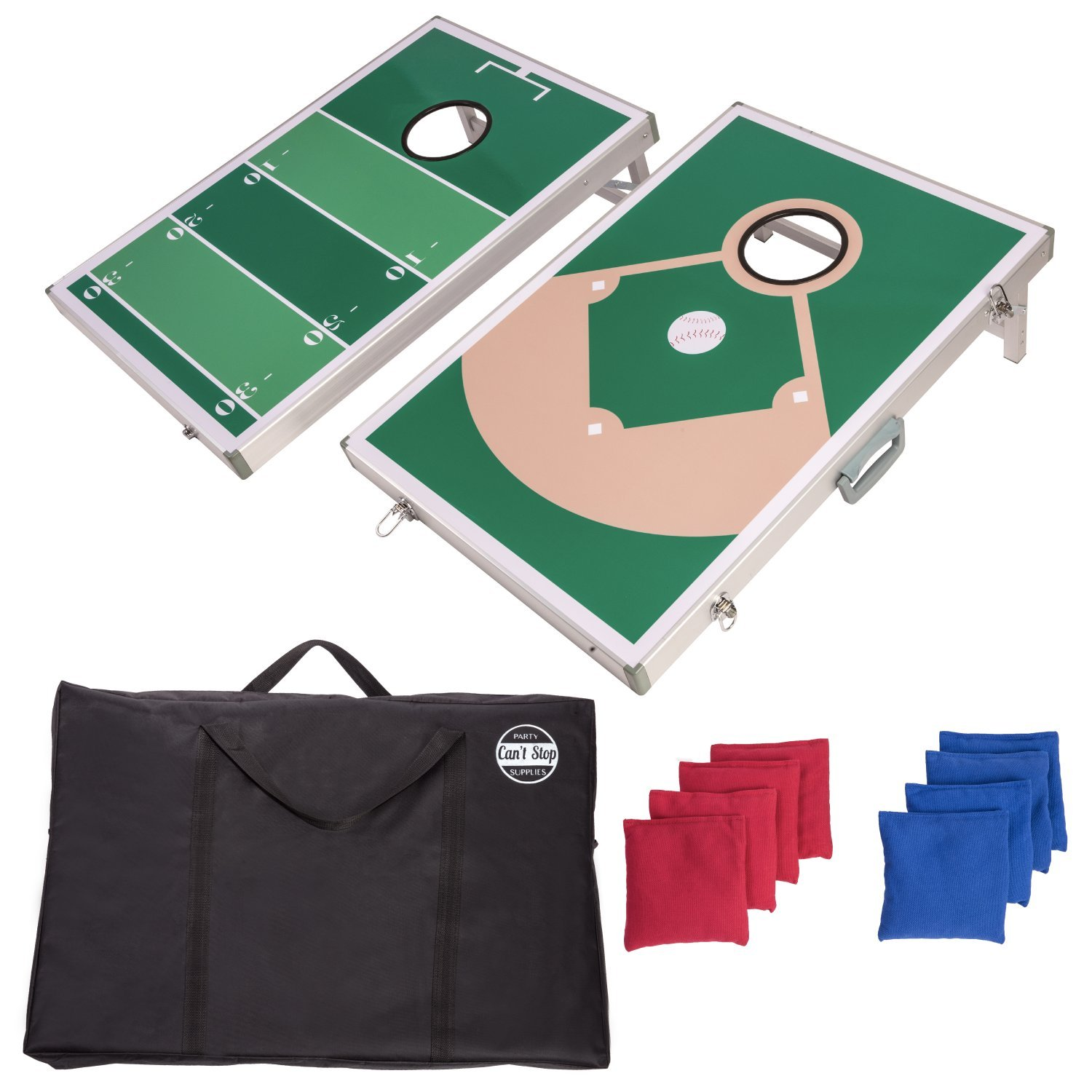 CAN'T STOP PARTY SUPPLIES Cornhole Board Game Set w/ 2 Boards and 8 Beanbags by CAN'T STOP PARTY SUPPLIES