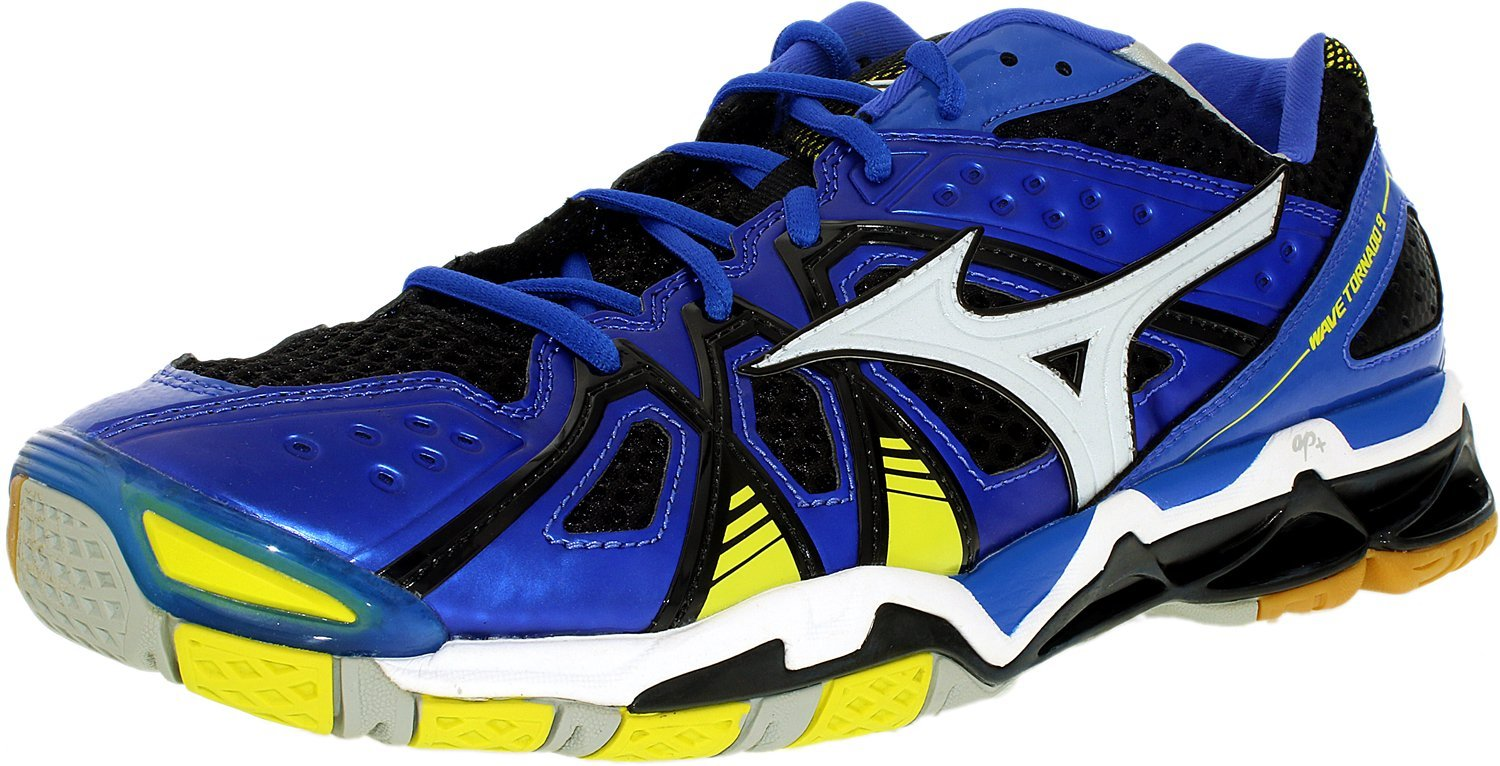 Mizuno Men's Wave Tornado 9 Db-BLT Volleyball Shoes, Dazzling Blue/Bolt, 15 D US