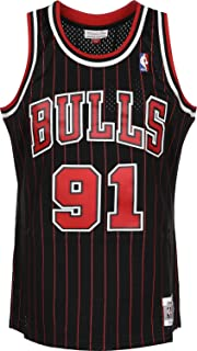 a6499622ff3 Mitchell   Ness Dennis Rodman  91 Chicago Bulls 1995-96 Swingman NBA Jersey  Pinstripe