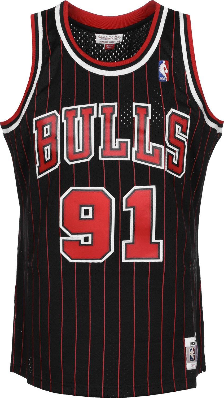 b3395b55b discount code for mitchell ness dennis rodman 91 chicago bulls 1995 96  swingman nba jersey pinstripe