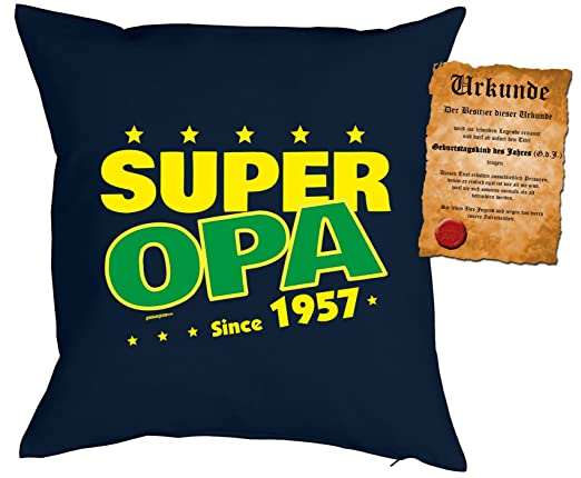 Para 60 cumpleaños regalo Idea Cojín con relleno Super ...